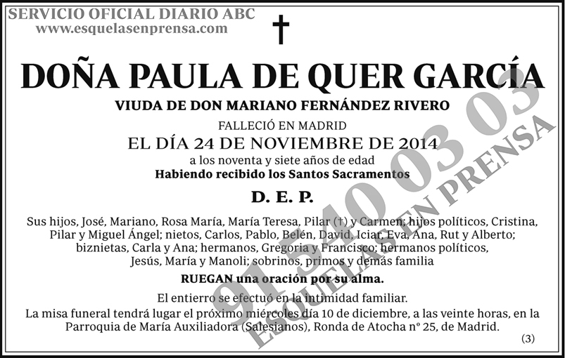 Paula de Quer García